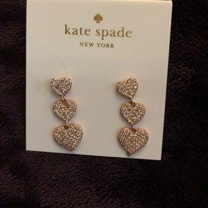 Hearts shaped Kate Spade ear ring